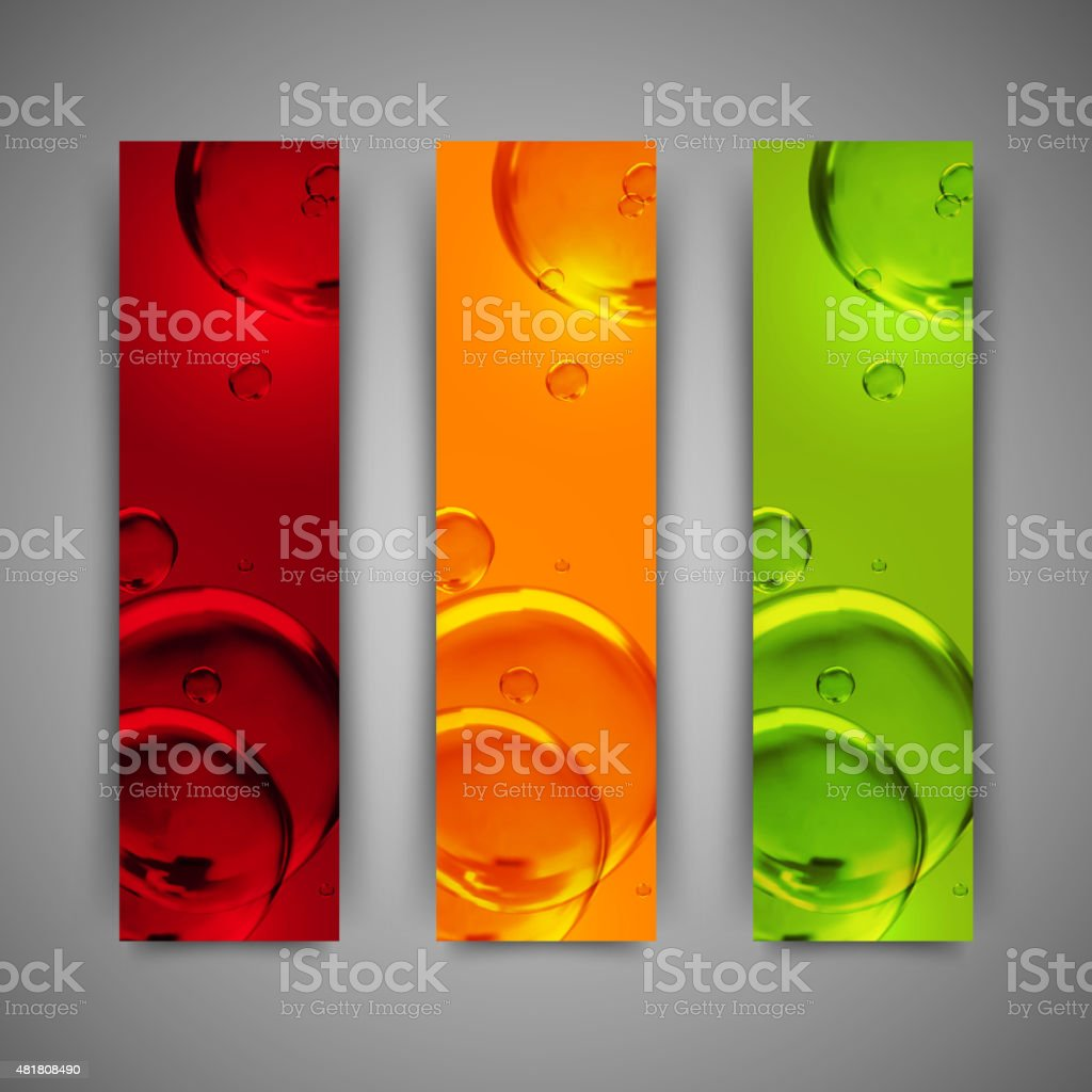 banner design templates  with colorful  water bubbles vector art illustration