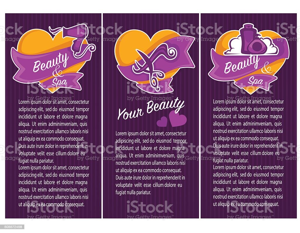 banner, flyer, card and promotional for beauty, spa and hairdresser salon vector art illustration