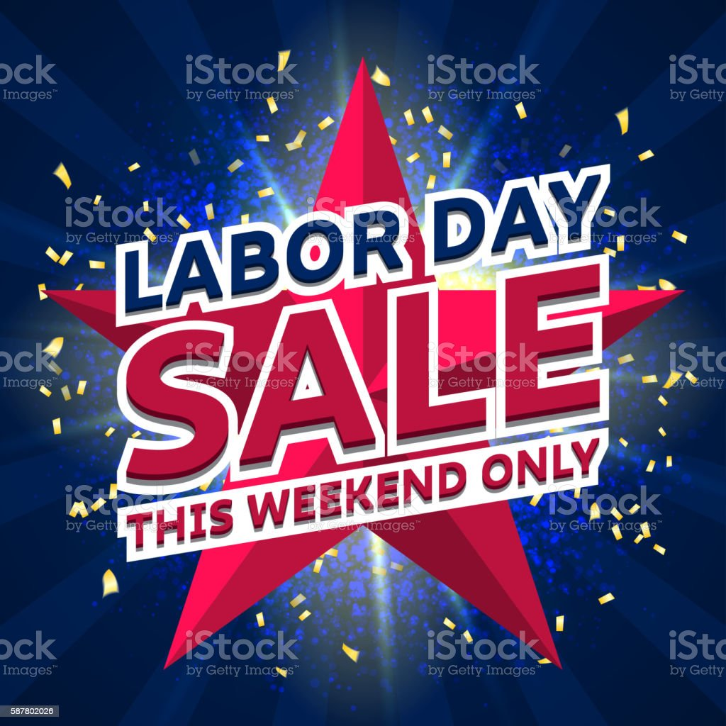 Banner for Labor day sale royalty-free stock vector art