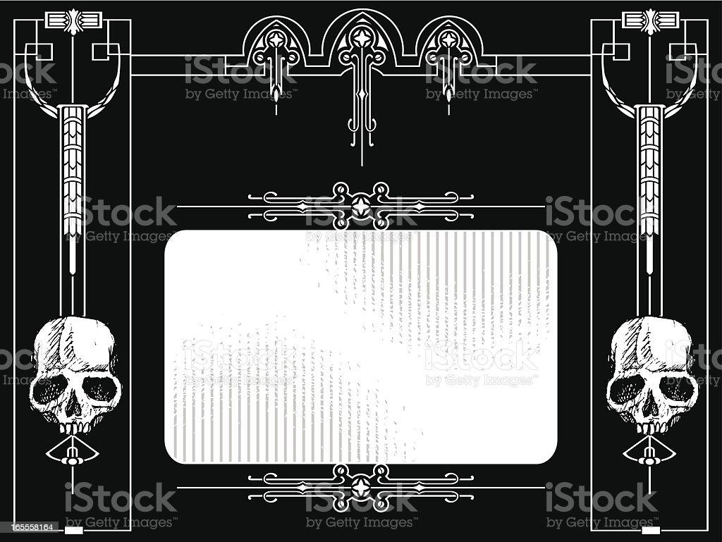 banner gothic royalty-free stock vector art