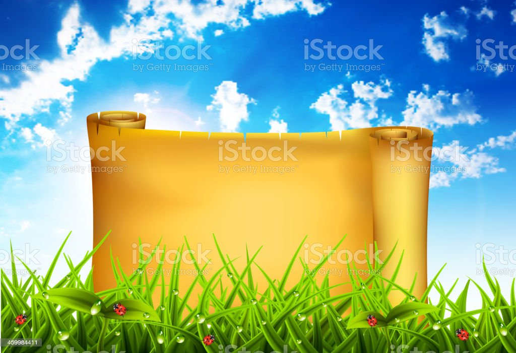 Banner in the nature royalty-free stock vector art