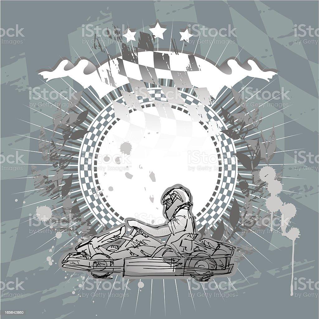 banner kart vector art illustration
