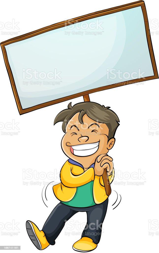 Banner kid royalty-free stock vector art