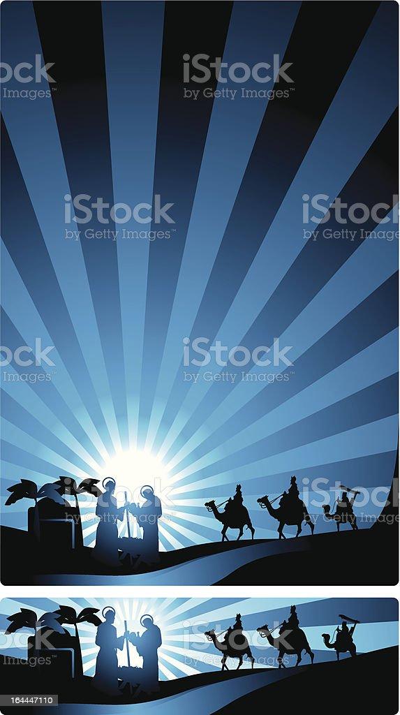 banner nativity scene royalty-free stock vector art