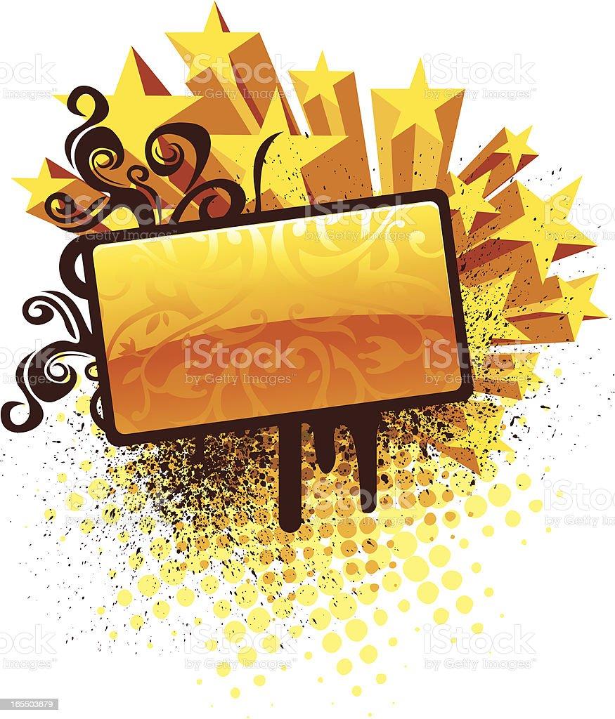 Banner of stars royalty-free stock vector art