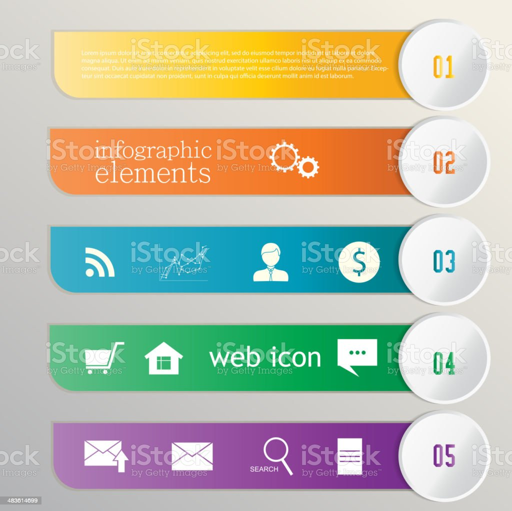 Banner ribbon. Element infographic. Web icons vector art illustration