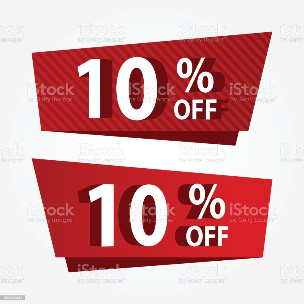 banner sale promotion template price tag vector discount 10 off