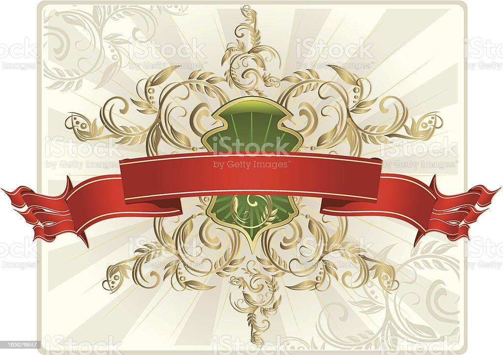 Banner & Shield royalty-free stock vector art