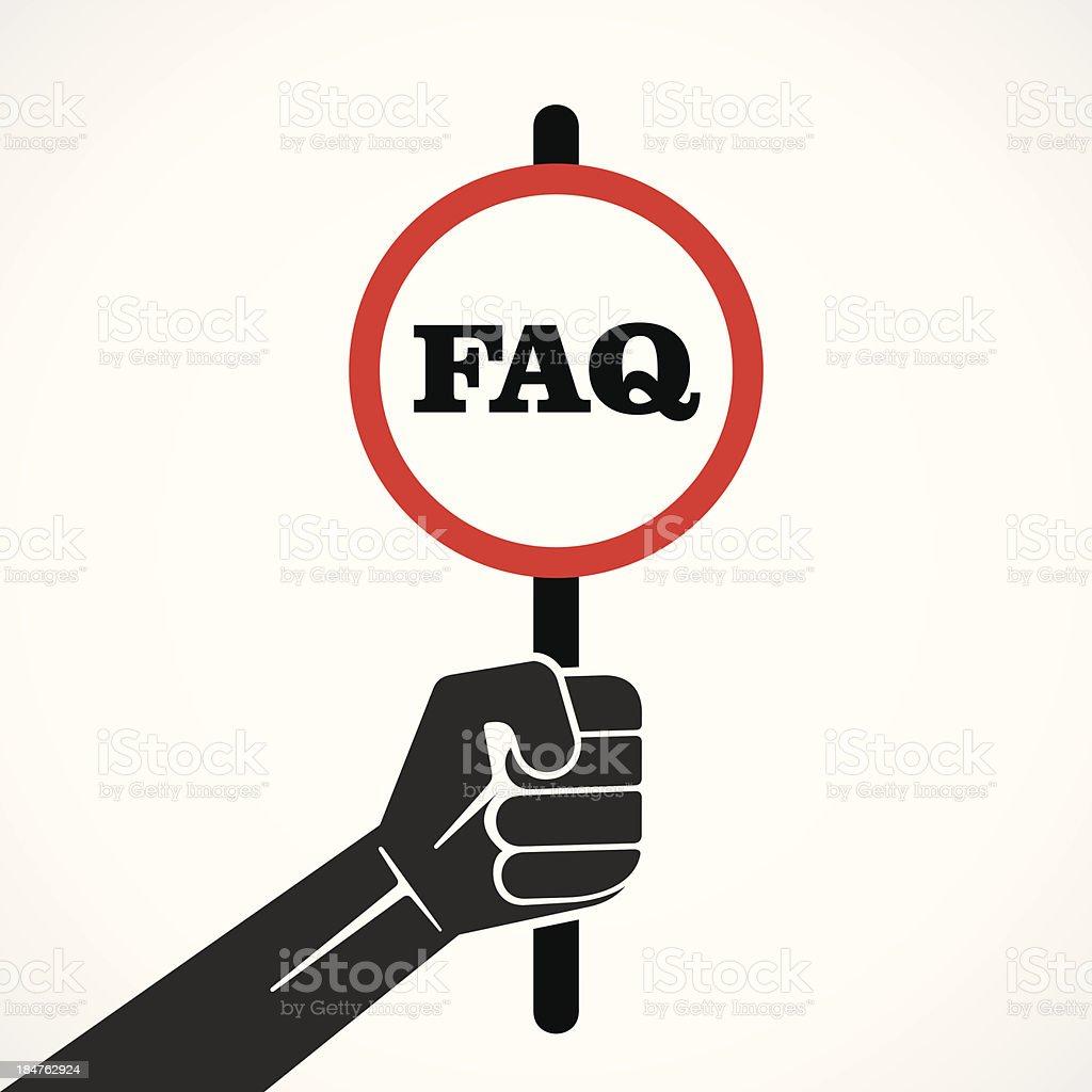 FAQ banner royalty-free stock vector art