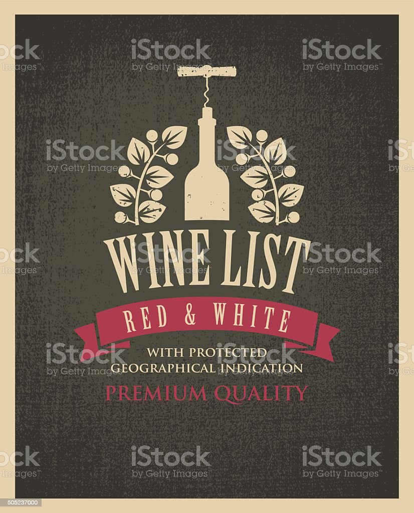 banner with a bottle of wine vector art illustration