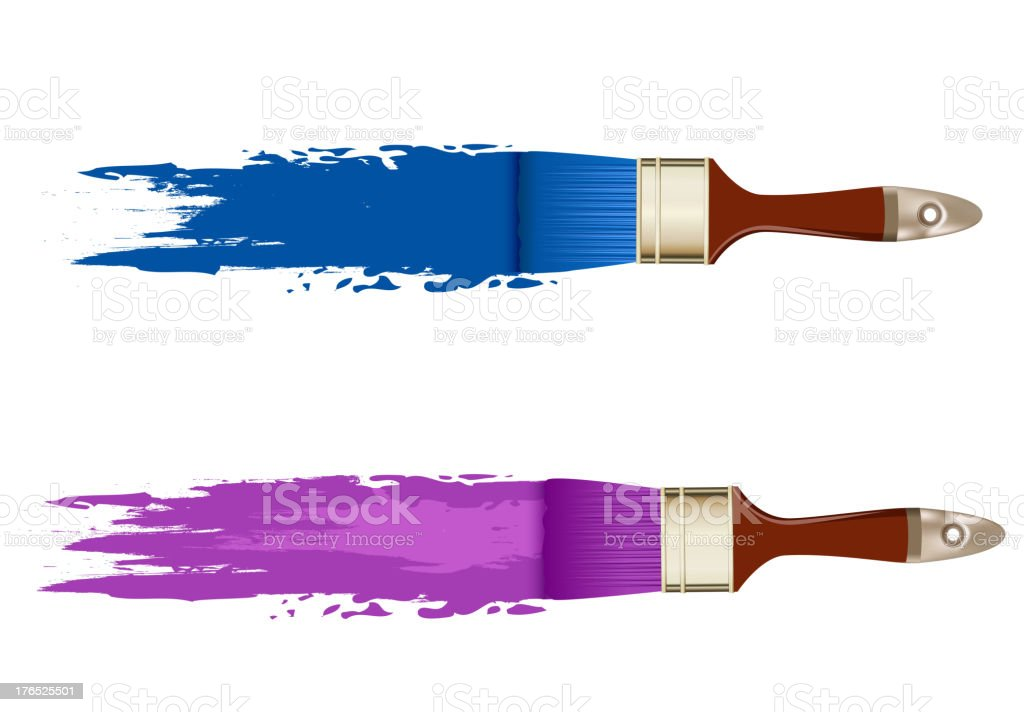 banner with brushes, paints. space for text royalty-free stock vector art