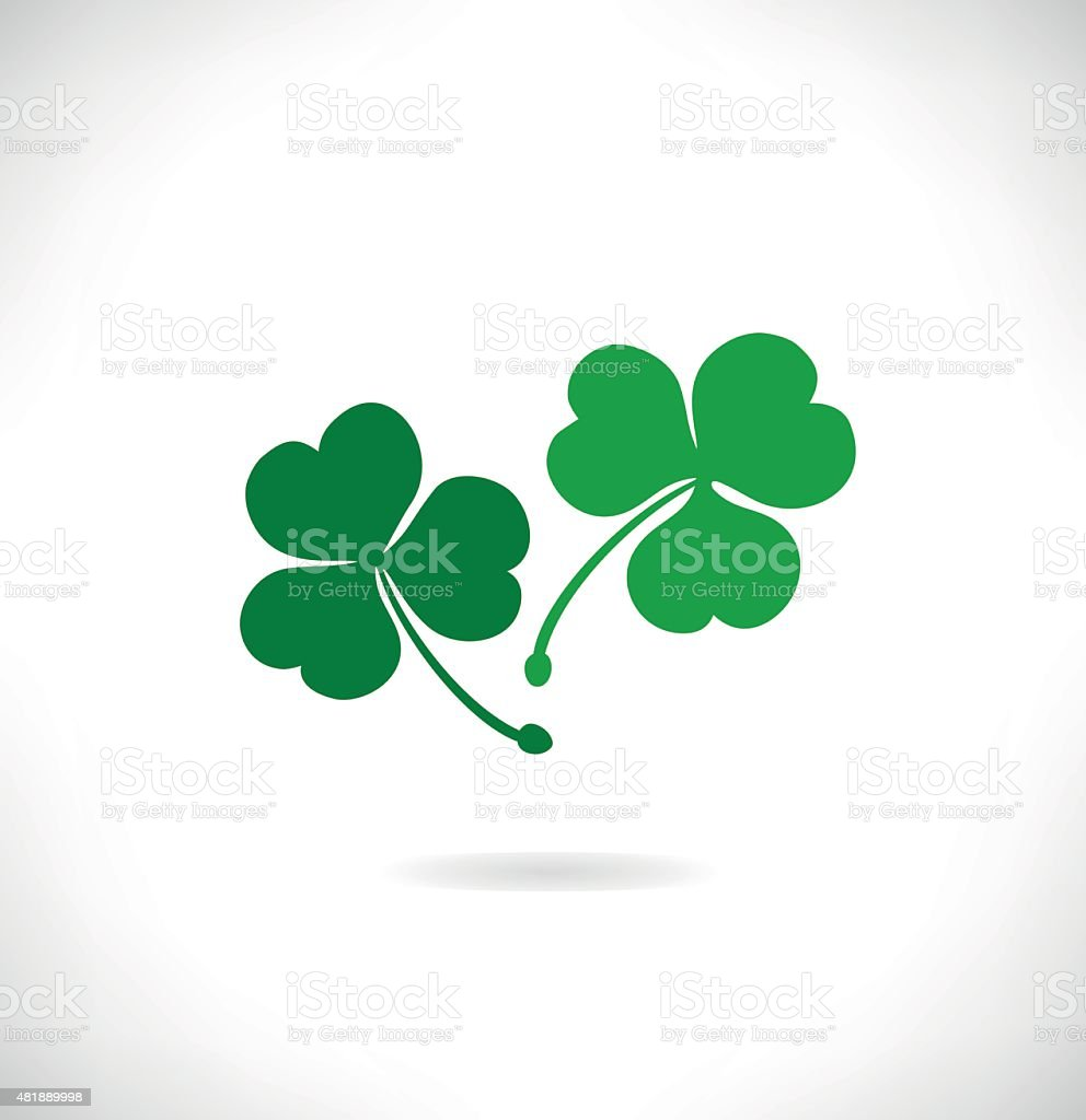 Banner with clover, trefoil. St. Patrick's symbol vector art illustration
