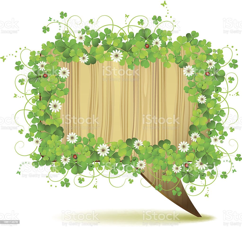 Banner with clover royalty-free stock vector art