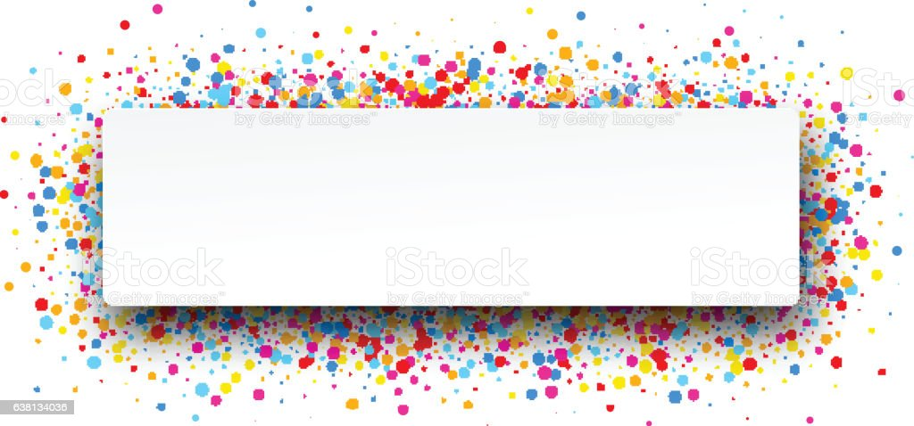 Banner with color drops. vector art illustration