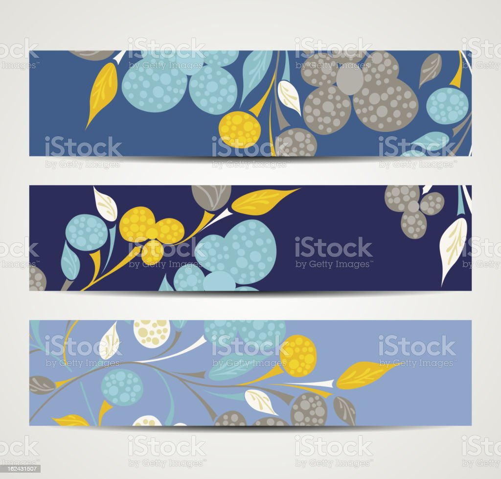 banner with floral pattern royalty-free stock vector art