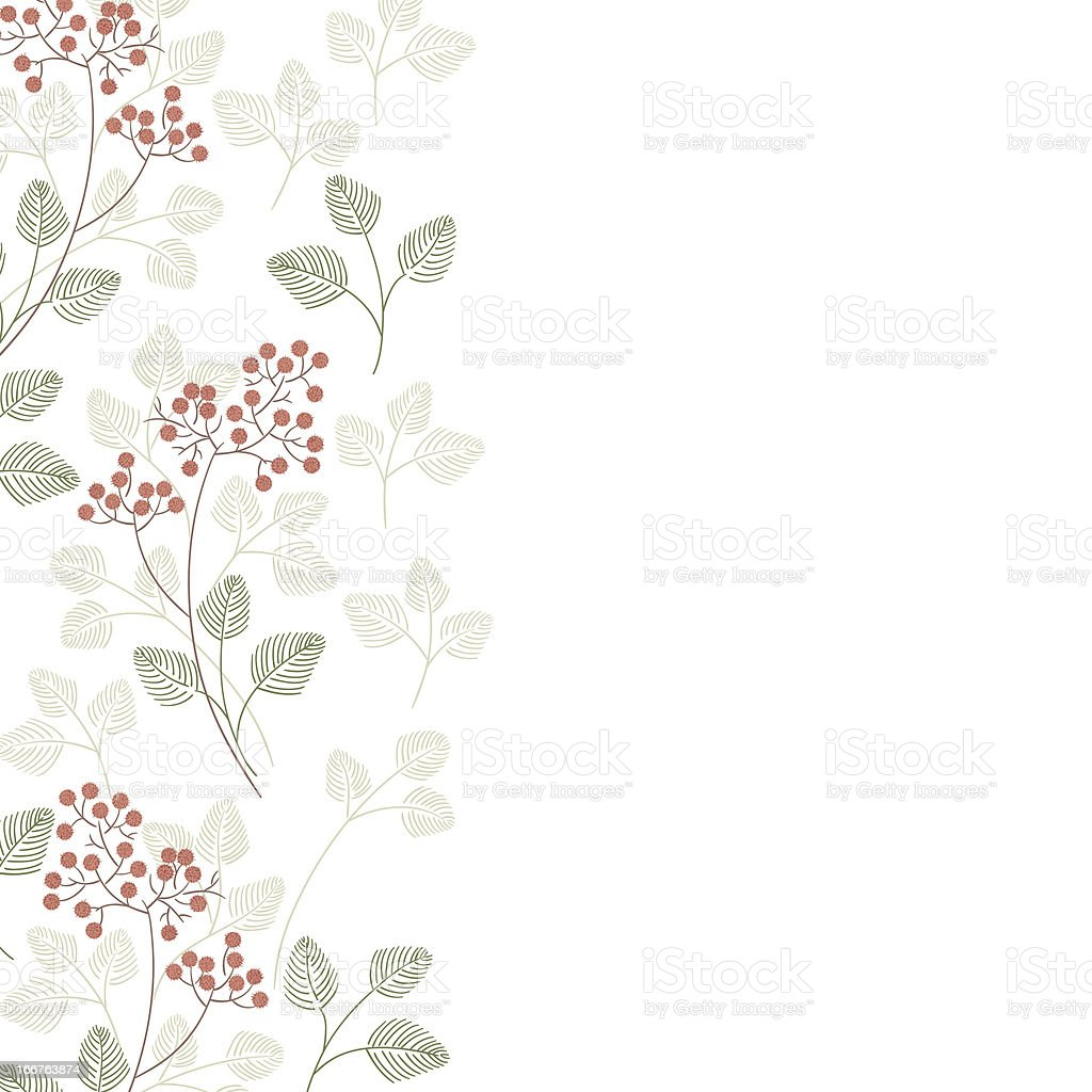 Banner with flowers and place for your text. royalty-free stock vector art