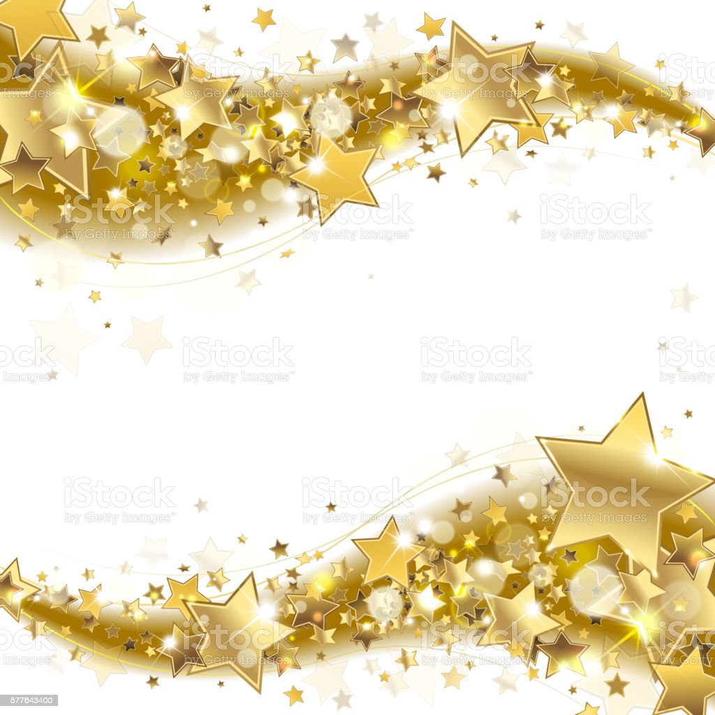 Banner With Gold Stars stock vector art 577643400   iStock - photo #30