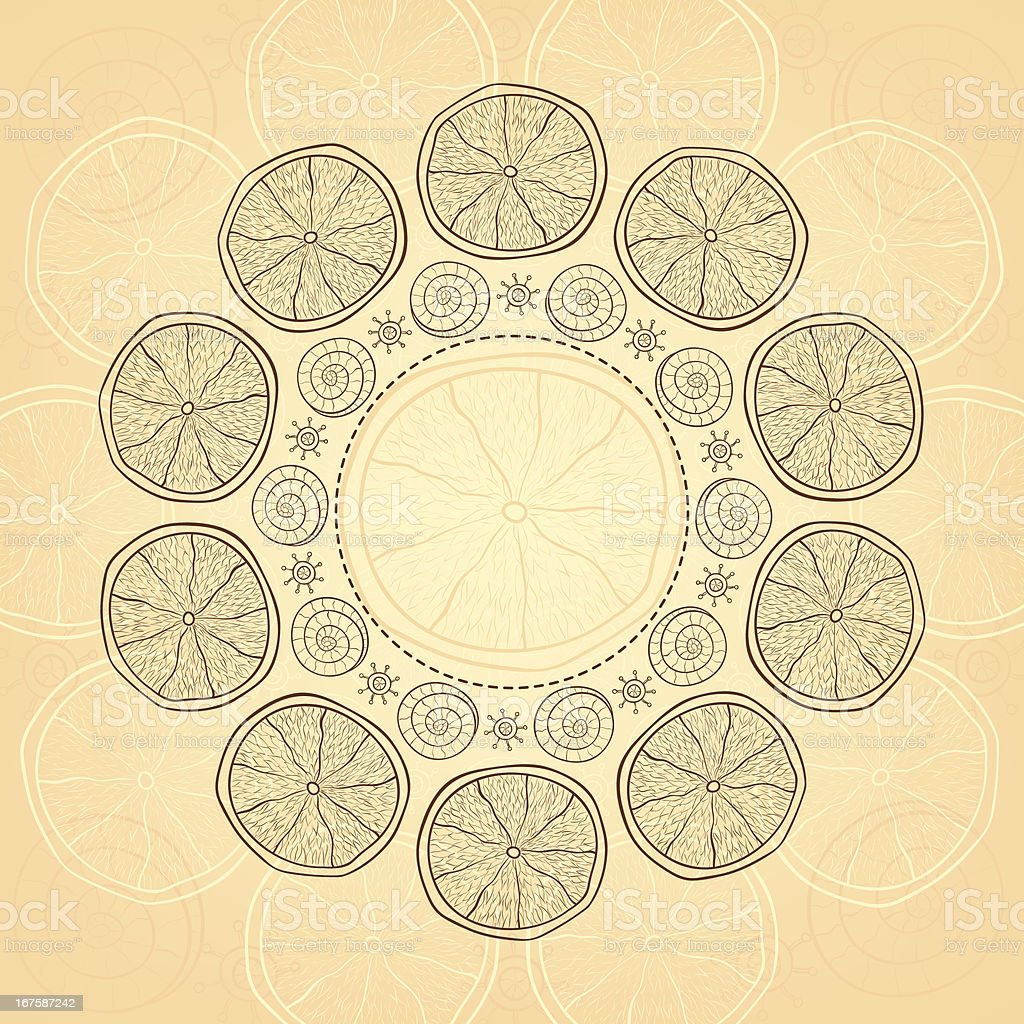 Banner with hand-drawn pattern and place for your text royalty-free stock vector art