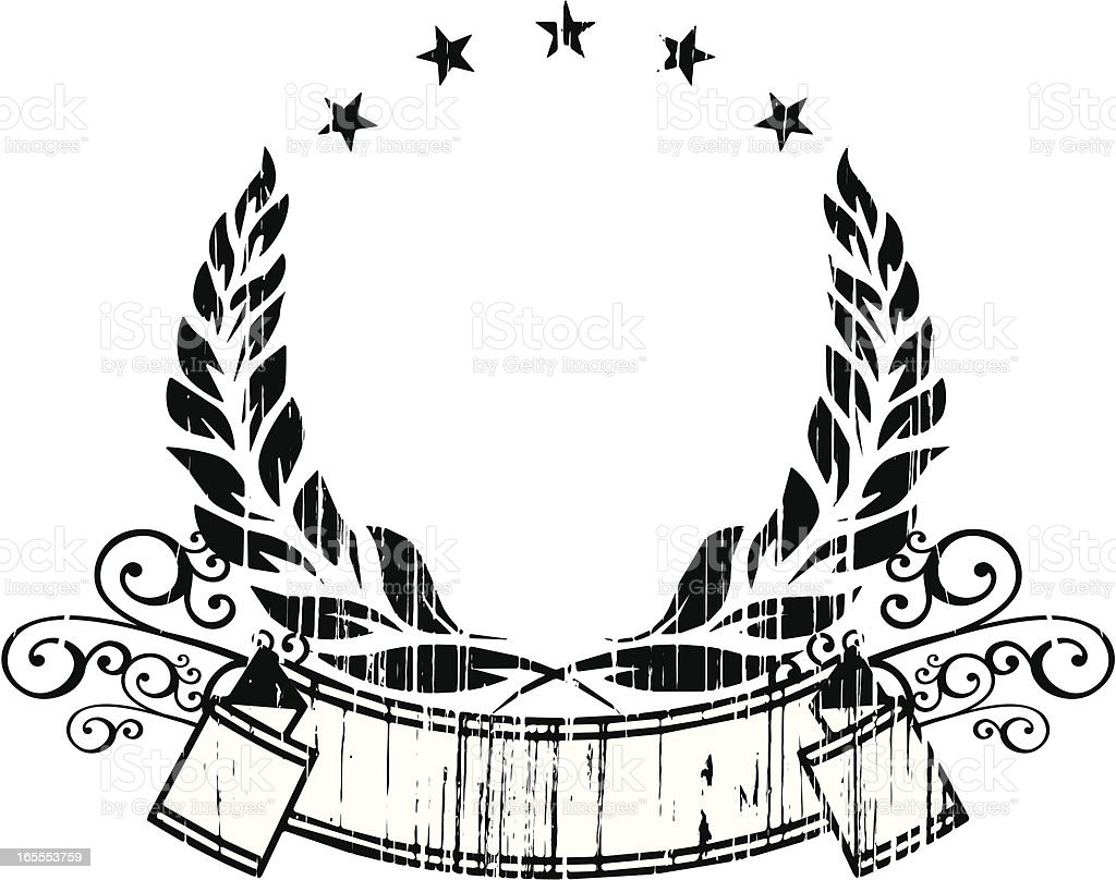banner with laurels royalty-free stock vector art
