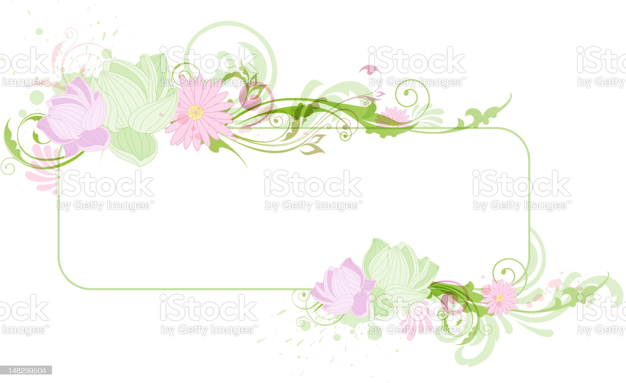 Banner with lotus royalty-free stock photo