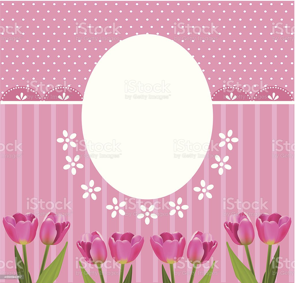 banner with tulips royalty-free stock vector art