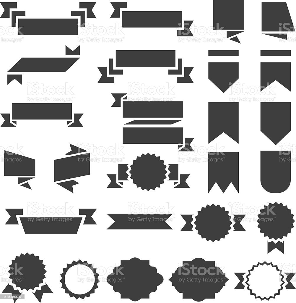 Banners and Labels collection vector art illustration