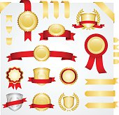 Banners and ribbons set