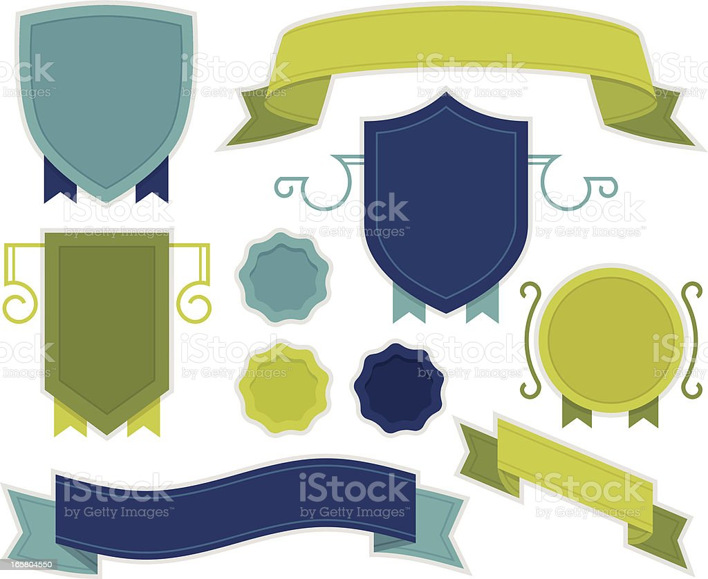 Banners and Shields royalty-free stock vector art