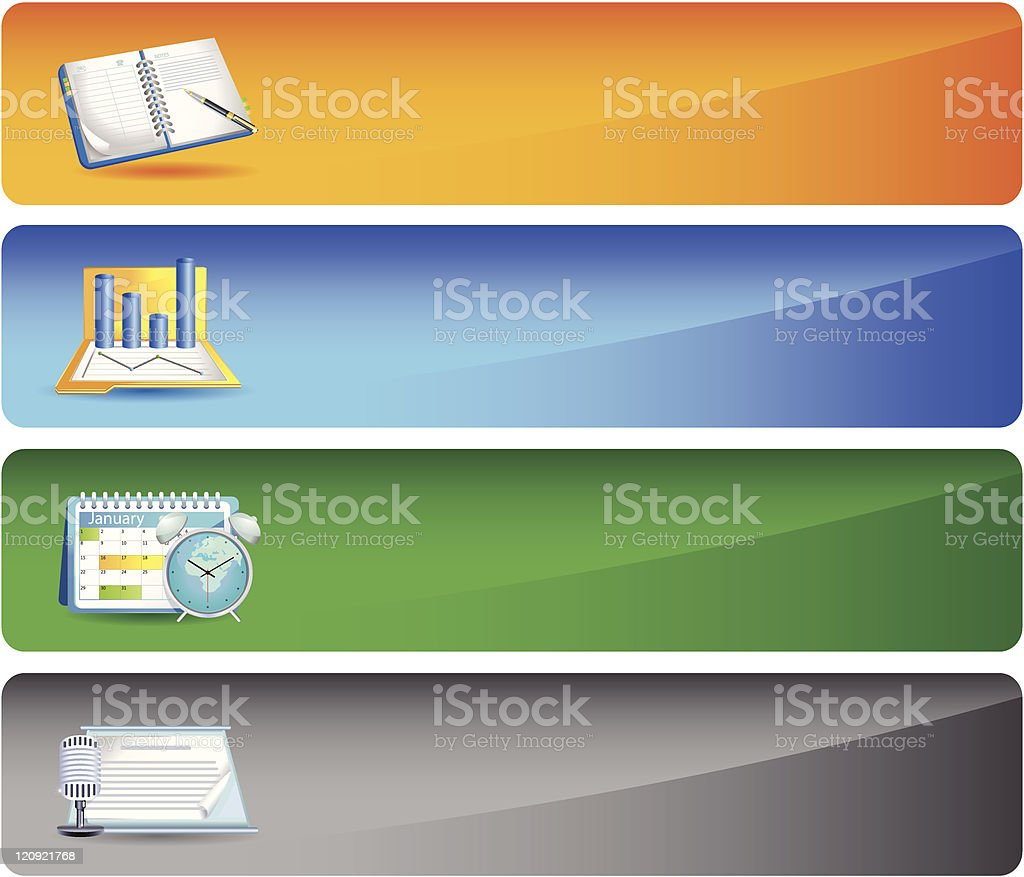Bussines Banners royalty-free stock vector art