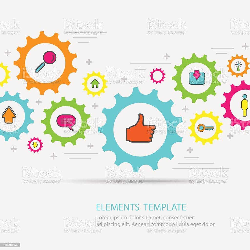 Banners Design Concept for Social Network. vector art illustration