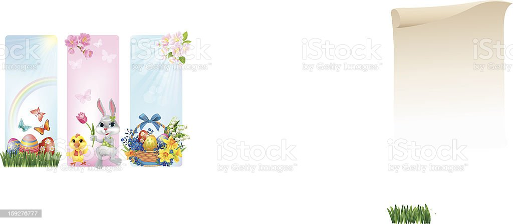 Banners for Easter royalty-free stock vector art