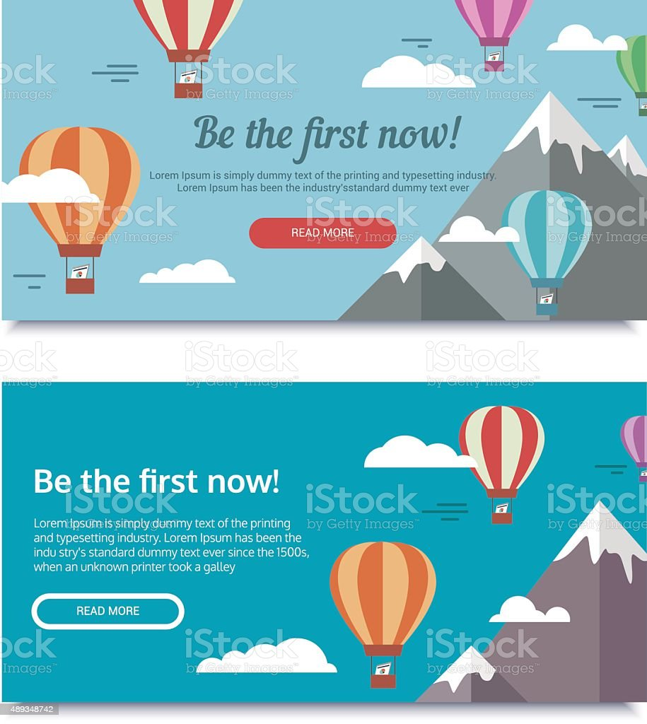 Banners for SEO vector art illustration
