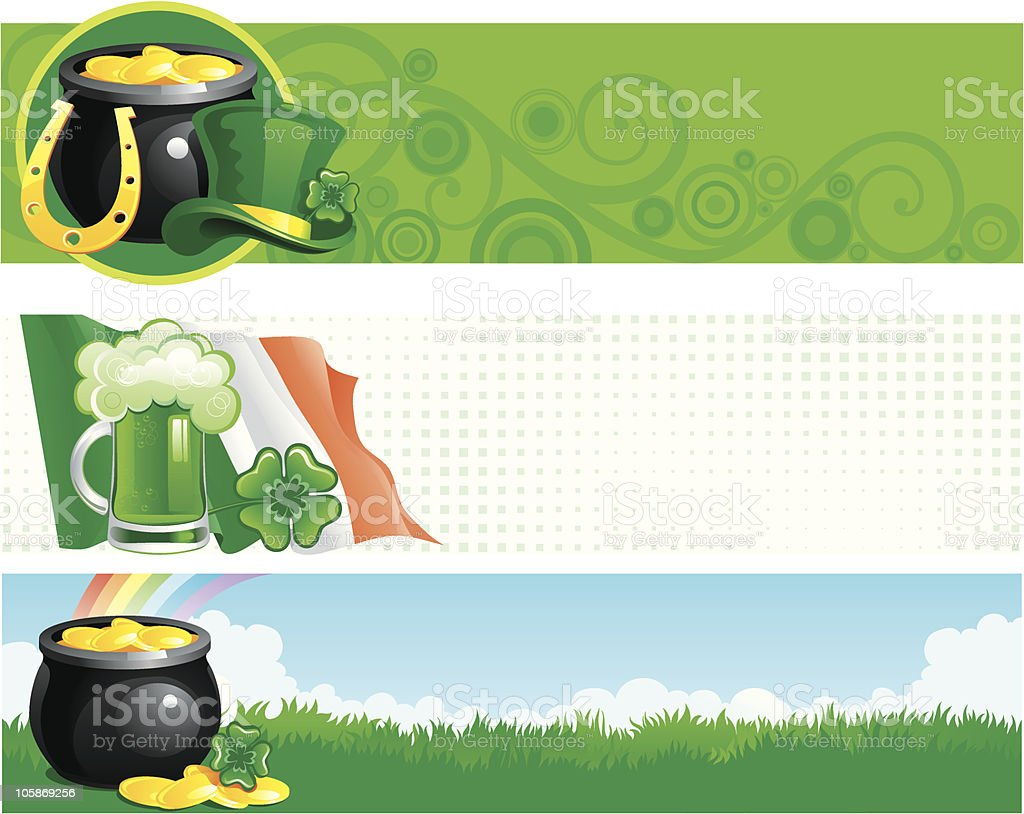 banners for  St. Patrick's Day royalty-free stock vector art