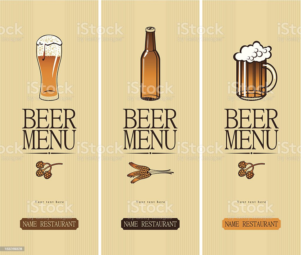 banners of beer vector art illustration