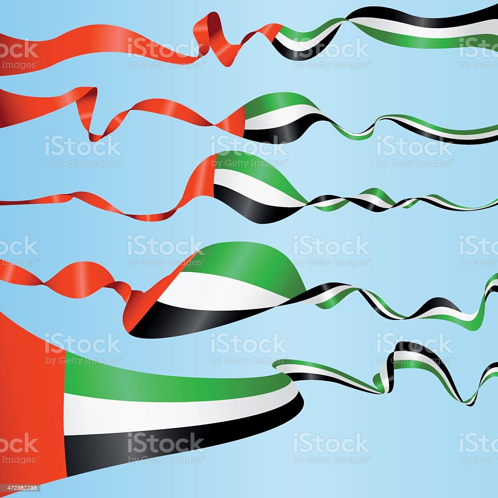 Banners of the United Arab Emirates vector art illustration