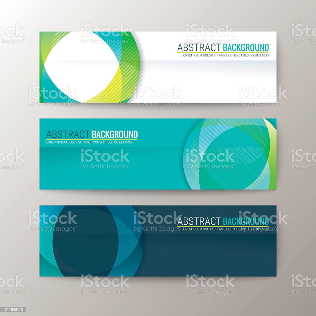 Banners template with abstract circle shape pattern background vector art illustration