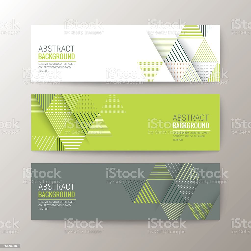 banners template with abstract triangle pattern background vector art illustration