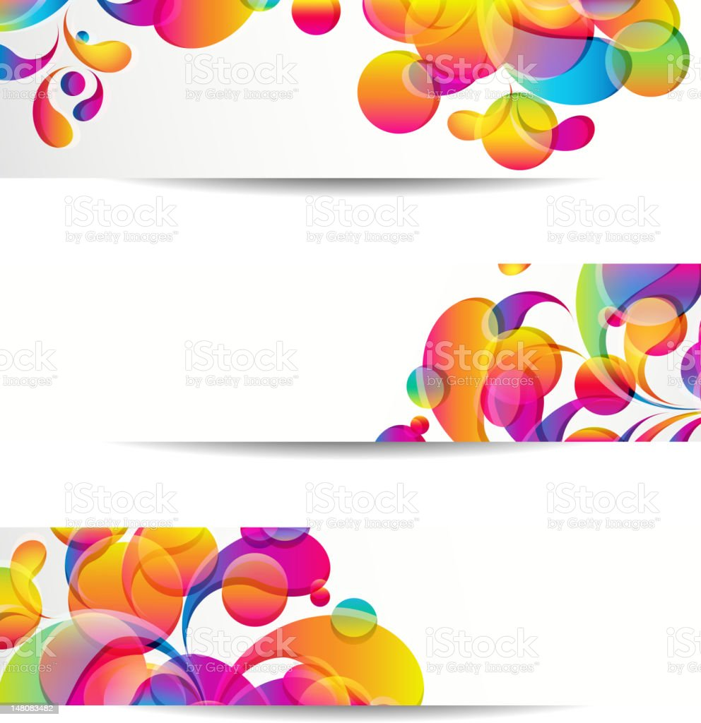Banners vector art illustration