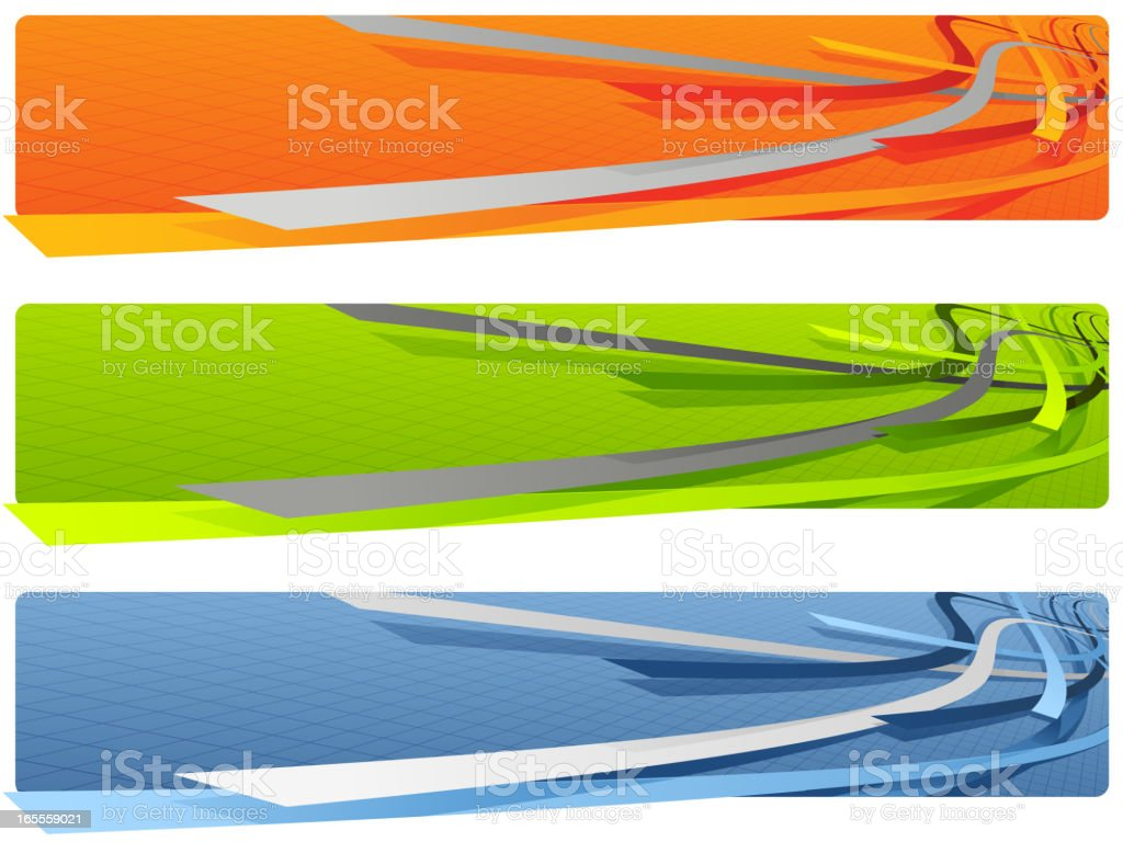 3D Banners royalty-free stock vector art