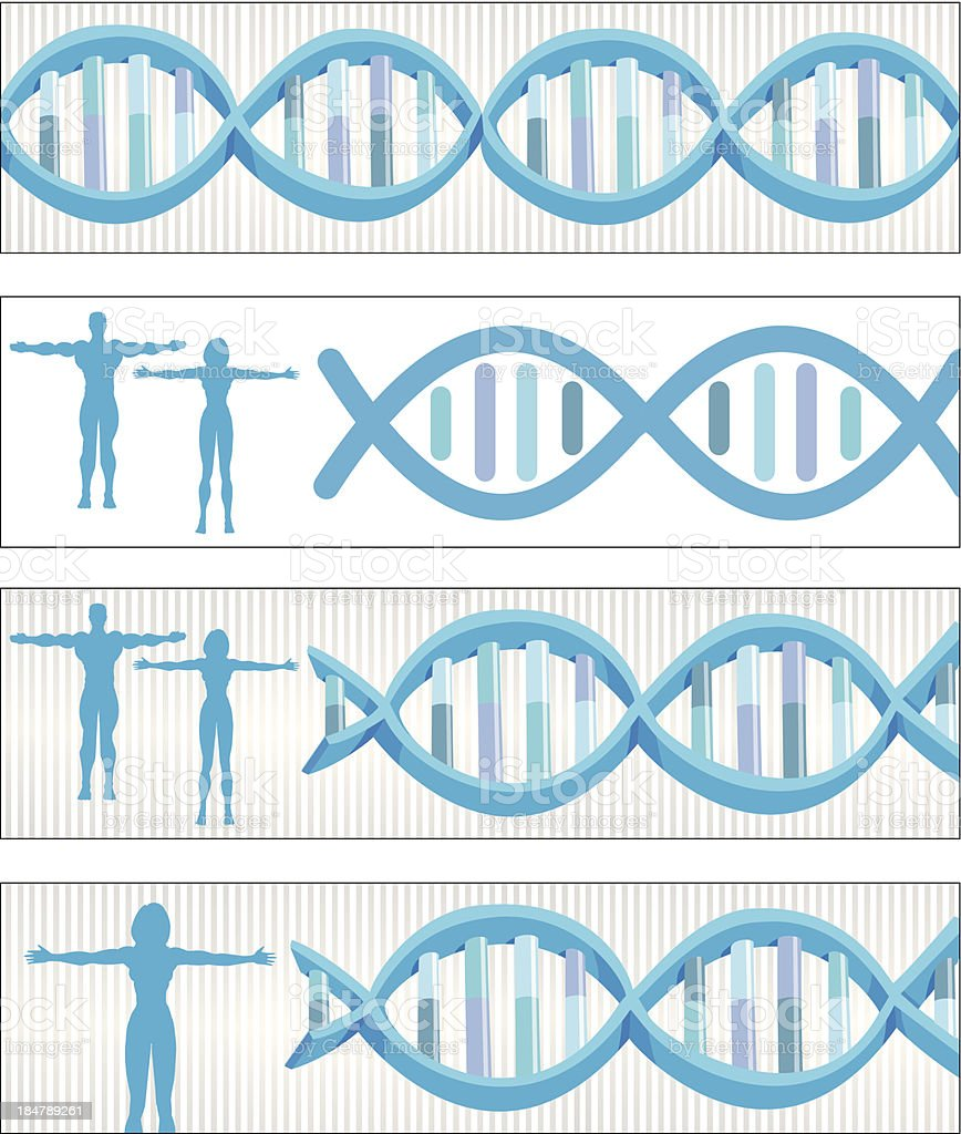 DNA banners royalty-free stock vector art