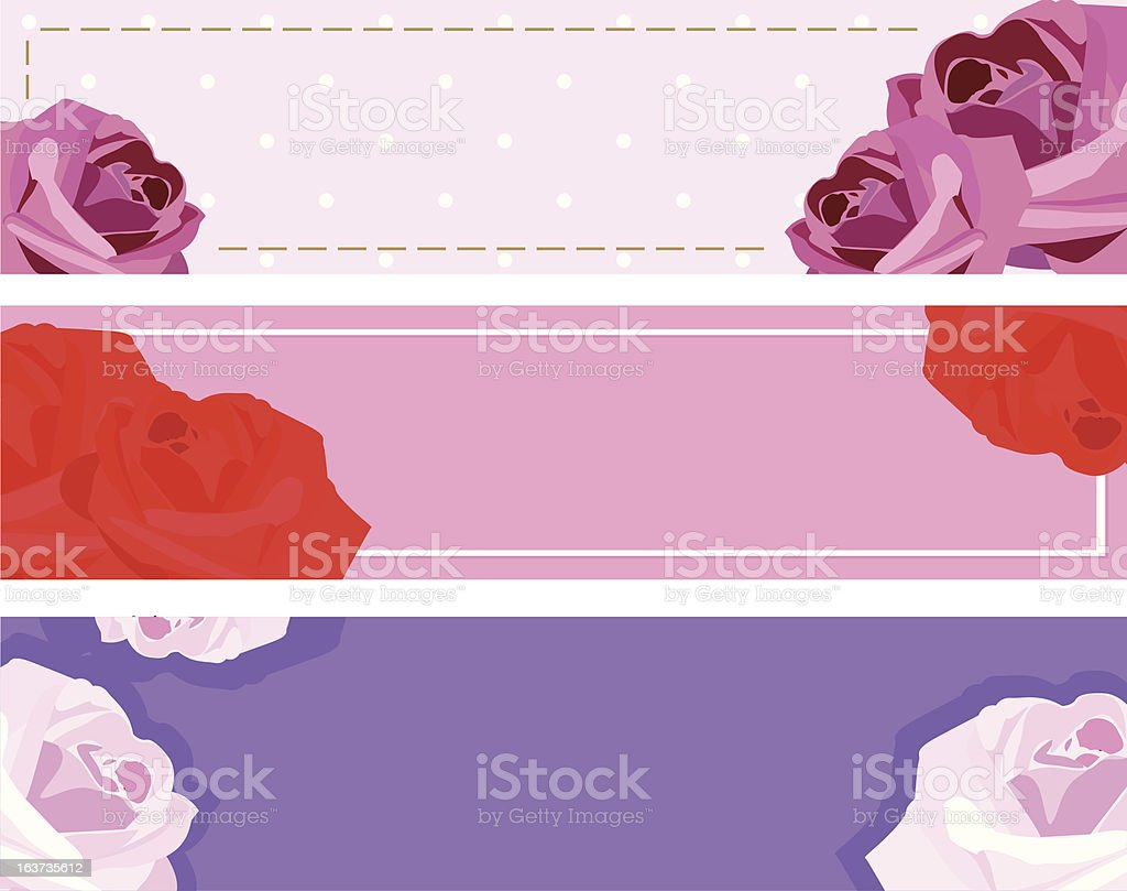 banners with roses royalty-free stock vector art