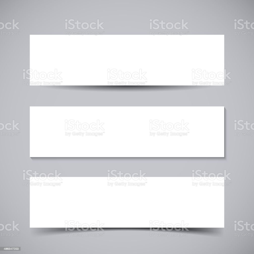 Banners with shadows vector art illustration