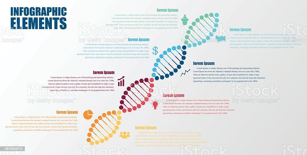 DNA banner.science infographics. Vector illustration vector art illustration