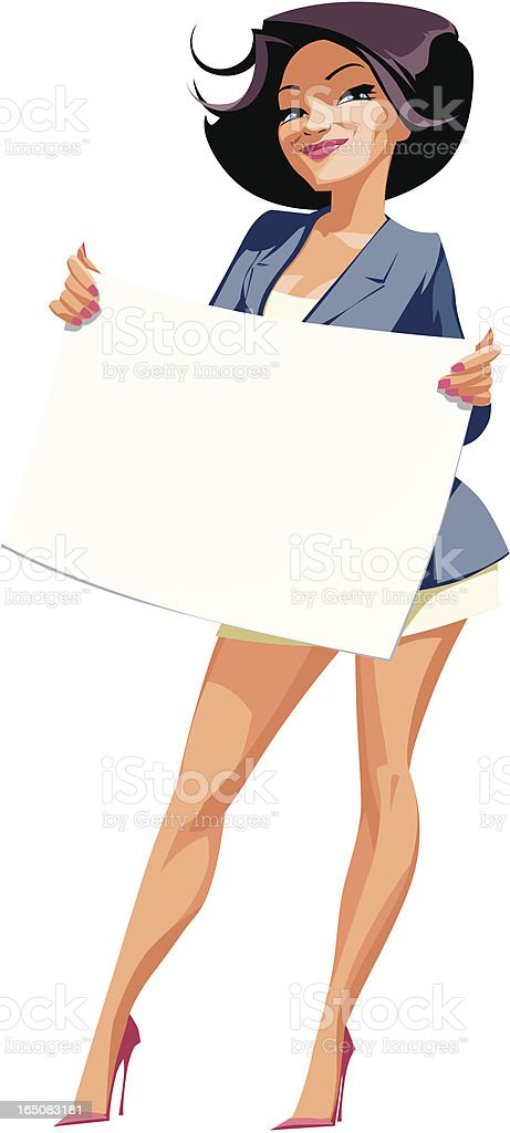 bannerwoman vector art illustration