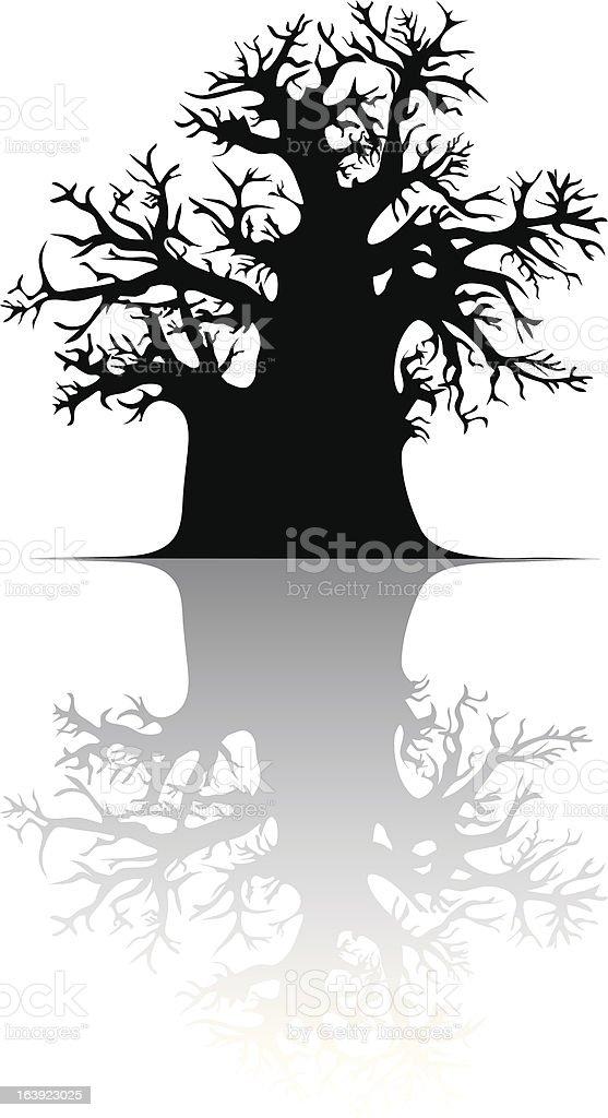 Baobab tree royalty-free stock vector art