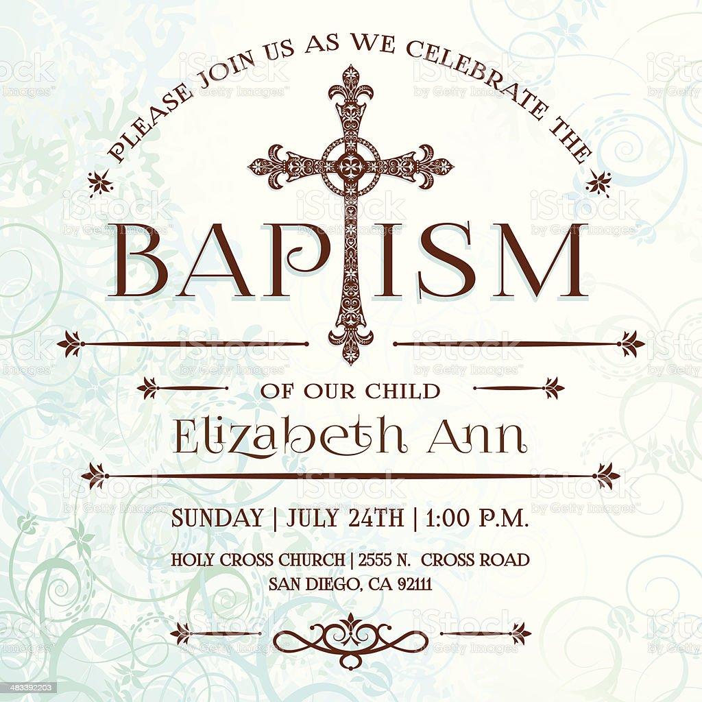 Baptism Invitation vector art illustration