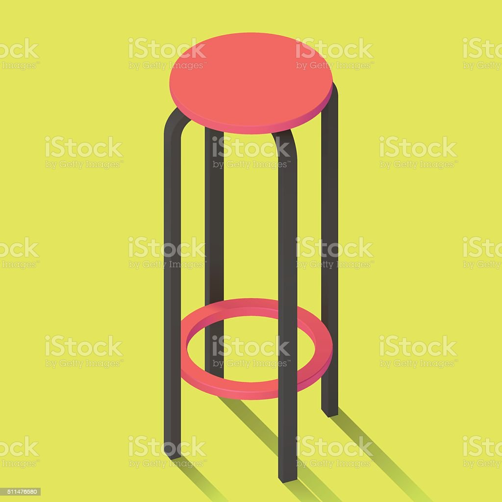bar chair isolated perspective view. vector art illustration