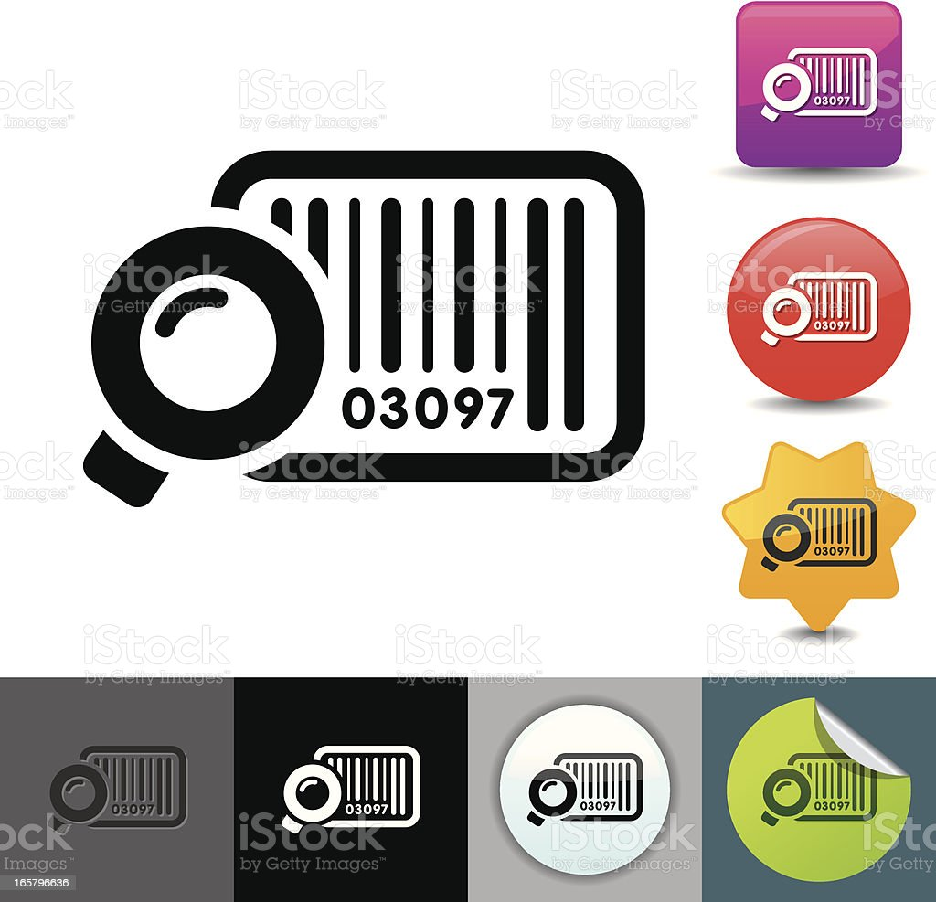 Bar code icon | solicosi series royalty-free stock vector art
