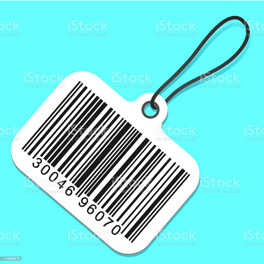 Bar code tag royalty-free stock vector art