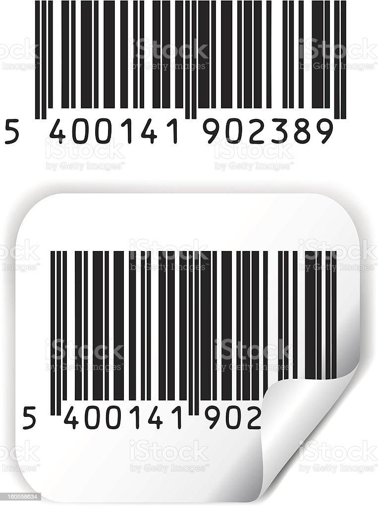 Bar code vector stock photo